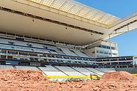 """São Paulo, SP, 14.12.2018 - MONSTER-JAM<br /> Media day do Monster Jam na Arena Corinthians, zona leste de São Paulo (SP), nesta sexta (14). Participam do evento veículos conhecidos como """"Big Foot"""", que são customizados para esse tipo de competição e conseguem fazer manobras radicais, por conta dos pneus especiais que podem chegar a mais de 1 metro de altura. (Foto: Anderson Lira/Brazil Photo Press/Folhapress)"""
