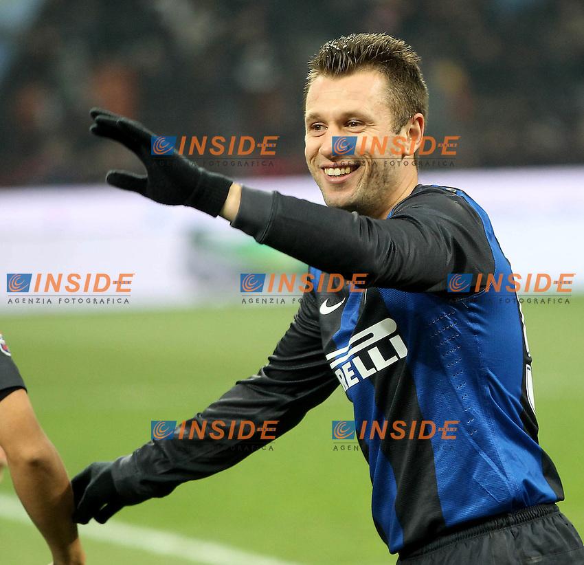 """Antonio Cassano Inter.Milano 09/12/2012 Stadio """"San Siro"""".Football Calcio Serie A 2012/13.Inter v Napoli.Foto Insidefoto Paolo Nucci."""