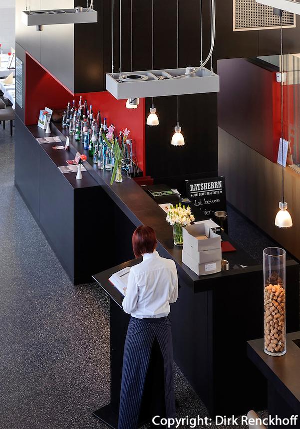 Restaurant Wasserwerk Wilhelmsburg von 1911,  Kurdamm 24, Internationale Gartenschau IGS und Bauausstellung IBA 2013 in  Hamburg-Wilhelmsburg, Deutschland
