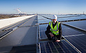 14/01/15<br /> <br /> ***FREE PHOTO FOR EDITORIAL USE***<br /> <br /> Completion the largest single rooftop solar PV project in UK spanning 900,000 sq. ft. on the roof M&S's EMDC  building, Castle Donington.<br /> <br /> All Rights Reserved - F Stop Press.  www.fstoppress.com. Tel: +44 (0)1335 300098