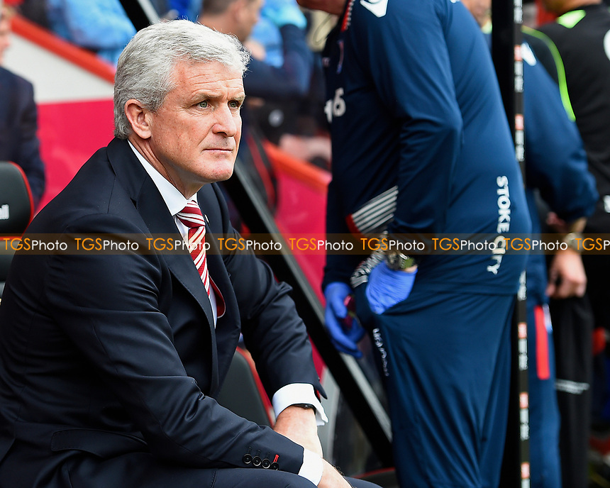 Stoke City Manager Mark Hughes during AFC Bournemouth vs Stoke City, Premier League Football at the Vitality Stadium on 6th May 2017