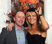 Pictured at the Diamonds &amp; Divas fashion Show in The Muckross Park Hotel were Michael Healy-Rae and jackie Lavin wering Michael's cap.<br /> Picture by Don MacMonagle