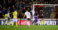 Sheffield United's Billy Sharp scores the opening goal <br /> <br /> Photographer Chris Vaughan/CameraSport<br /> <br /> The EFL Sky Bet Championship - Sheffield United v Blackburn Rovers - Saturday 29th December 2018 - Bramall Lane - Sheffield<br /> <br /> World Copyright © 2018 CameraSport. All rights reserved. 43 Linden Ave. Countesthorpe. Leicester. England. LE8 5PG - Tel: +44 (0) 116 277 4147 - admin@camerasport.com - www.camerasport.com