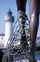 Europe/France/Bretagne/56/Morbihan/Quiberon/Port-Haliguen: Détail de la statue femme ou sirène