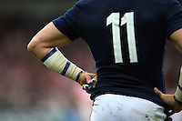 A close up view of Sean Lamont of Scotland. Rugby World Cup Pool B match between Scotland and Japan on September 23, 2015 at Kingsholm Stadium in Gloucester, England. Photo by: Patrick Khachfe / Onside Images