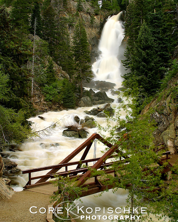Peak flow on Fish Creek Falls in Steamboat Springs, Colorado.