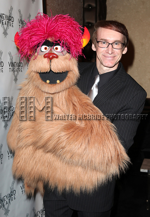 Trekkie Monster & Rick Lyon attending the Vineyard Theatre's 30th Anniversary Gala Celebration Cocktail Reception at the Edison Ballroom in New York City on 3/18/2013