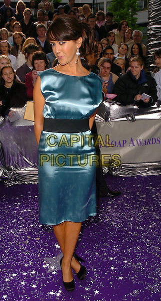 SHEREE MURPHY .The Brtish Soap Awards - Arrivals,.BBC Television centre, London, .London, England, May 20th 2006..full length blue satin dress black waist  shoes.Ref: CAN.www.capitalpictures.com.sales@capitalpictures.com.©Can Nguyen/Capital Pictures