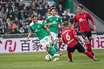 13.04.2019, Weser Stadion, Bremen, GER, 1.FBL, Werder Bremen vs SC Freiburg, <br /> <br /> DFL REGULATIONS PROHIBIT ANY USE OF PHOTOGRAPHS AS IMAGE SEQUENCES AND/OR QUASI-VIDEO.<br /> <br />  im Bild<br /> <br /> Max Kruse (Werder Bremen #10)<br /> Yuya Osako (Werder Bremen #08)<br /> Einzelaktion, Ganzk&ouml;rper / Ganzkoerper<br /> <br /> Foto &copy; nordphoto / Kokenge