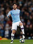 David Silva of Manchester City during the UEFA Champions League match against Shakhtar Donetsk at the Etihad Stadium, Manchester. Picture date: 26th November 2019. Picture credit should read: Darren Staples/Sportimage