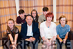 Mary Burke Celebrating her 70th Birthday in the Brooklane Hotel with her Family Photo with her Grandchildren. L-R Clodagh Burk,David Burke, Mary Burke Birthday girl, Coilin Confhaola,Back row L-R. Tiarnan De Burca, Sorcha Burke, and Coileain De Burraminder