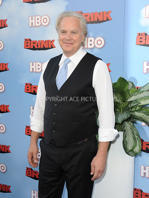 WWW.ACEPIXS.COM<br /> <br /> June 8 2015, Hollywood Ca<br /> <br /> Tim Robbins arriving at HBO's Brink premiere on June 8, 2015 at the Paramount Theater in Hollywood Ca.<br /> <br /> Please byline: Peter West/ACE Pictures<br /> <br /> ACE Pictures, Inc.<br /> www.acepixs.com<br /> Email: info@acepixs.com<br /> Tel: 646 769 0430