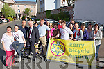 BICYCLE: Jimmy Deenihan, Arthur Spring, Jillian Warton mayor of Traleen with many guest who launched the Kerry Bicycle Festival at Roundy's Bar, on Saturday...