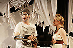 Emma Zaks & Dan Sheridan - Athena & Zeus - Dress Rehearsal of Odyssey - The Epic Musical  on October 21, 2011 at the American Theatre of Actors, New York City, New York. (Photo by Sue Coflin/Max Photos)