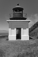 Punta Gorda Lighthouse on Northern California's Lost Coast overlooks the Pacific Ocean. Located near the town of Petrolia, California, the lighthouse was built in 1912 and decomissioned in 1951 when it was deemed that it was no longer needed.