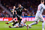 Gonzalo Higuain of Argentina (L) fights for the ball with Thiago Alcantara of Spain (R) during the International Friendly 2018 match between Spain and Argentina at Wanda Metropolitano Stadium on 27 March 2018 in Madrid, Spain. Photo by Diego Souto / Power Sport Images