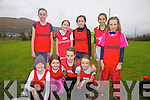 Kenmare's under age cross country competitors taking part in the County Cross Country Championships in Cahersiveen on Sunday pictured front l-r; Gemma O'Brien, Aisling Rochford, Eve Roberts, Siobhan Murphy, back l-r; Grace Sayers, Kate Murphy, Katie Palmer, Alice O'Connor & Clíona Daly.