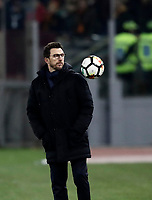 Calcio, Serie A: AS Roma - Torino Roma, stadio Olimpico, 9 marzo, 2018.<br /> Roma's coach Eusebio Di Francesco during the Italian Serie A football match between AS Roma and Torino at Rome's Olympic stadium, 9 marzo, 2018.<br /> UPDATE IMAGES PRESS/Isabella Bonotto