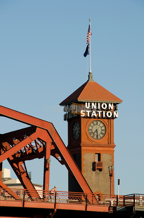 The Broadway Bridge with Union Station, Portland, Oregon