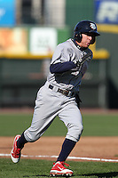 Lehigh Valley Ironpigs shortstop Robert Hudson #2 during the second game of a double header against the Rochester Red Wings at Frontier Field on April 14, 2011 in Rochester, New York.  Lehigh Valley defeated Rochester 5-3 in extra innings.  Photo By Mike Janes/Four Seam Images