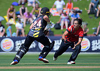 Action from the women's Twenty20 cricket match between the Wellington Blaze and Canterbury Magicians at Basin Reserve in Wellington, New Zealand on Sunday, 6 January 2019. Photo: Dave Lintott / lintottphoto.co.nz