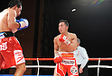 (L-R) Terdsak Kokietgym (THA), Takahiro Aou (JPN),.APRIL 6, 2012 - Boxing :.Terdsak Kokietgym of Thailand and Takahiro Aou of Japan during the WBC super featherweight title bout at Tokyo International Forum in Tokyo, Japan. (Photo by Mikio Nakai/AFLO)