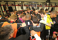 Team gathers before the final appearance of Jaime Moreno in a D.C. United uniform, at RFK Stadium, in Washington D.C. on October 23, 2010. Toronto won 3-2.