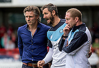 Wycombe Wanderers 46 year old Keeper Barry Richardson who kept a clean sheet against Plymouth Argyle on Saturday (30/01/16) having not played a competitive game in over 10 years (Chats with Wycombe Manager Gareth Ainsworth). Photo by Liam McAvoy / PRiME Media Images