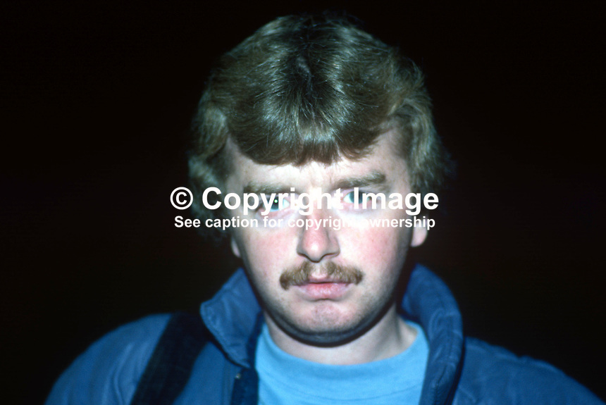 Mark Jameson, press photographer, journalist, Coleraine, N Ireland, 19840121MJ..Copyright Image from Victor Patterson, 54 Dorchester Park, Belfast, UK, BT9 6RJ..Tel: +44 28 9066 1296.Mob: +44 7802 353836.Voicemail +44 20 8816 7153.Skype: victorpattersonbelfast.Email: victorpatterson@me.com.Email: victorpatterson@ireland.com (back-up)..IMPORTANT: If you wish to use this image or any other of my images please go to www.victorpatterson.com and click on the Terms & Conditions. Then contact me by email or phone with the reference number(s) of the image(s) concerned.