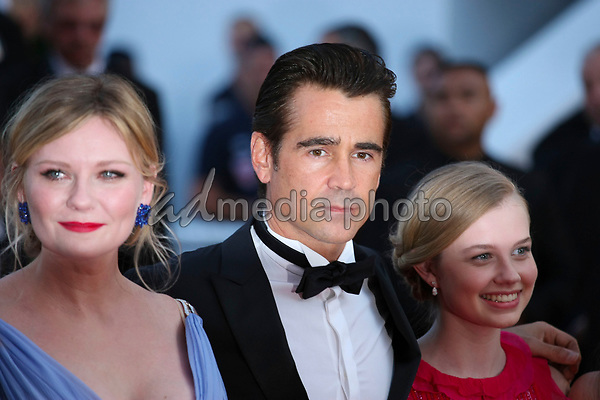 "24 May 2017 - Cannes, France - Kirsten Dunst, Colin Farell . ""The Beguiled"" Premiere - The 70th Annual Cannes Film Festival. Photo Credit: Georg Wenzel/face to face/AdMedia"