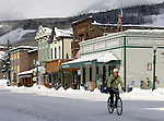 Elk Avenue, downtown Crested Butte, CO. © Michael Brands. 970-379-1885.