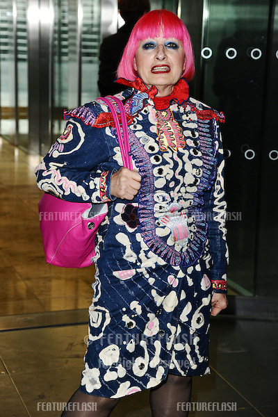 Zandra Rhodes at the Matthew Williamson catwalk show as part of London Fashion Week SS13, Canon House, London.16/09/2012 Picture by: Steve Vas / Featureflash