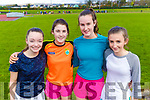 Leah Murphy, Emily O'Sulivan, Cliona Murphy and Niamh Andrews, students attending Colaiste Na Sceilge, Cahersiveen, pictured at the Kerry ETB Athletics event at An Riocht, Castleisland, on Friday last.
