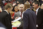 LAS VEGAS, NV - MARCH 8:  Randy Bennett during Saint Mary's 81-62 win over the Gonzaga Bulldogs in the championship game of the 2010 Zappos West Coast Conference Basketball Championships on March 8, 2010 at Orleans Arena in Las Vegas Nevada.