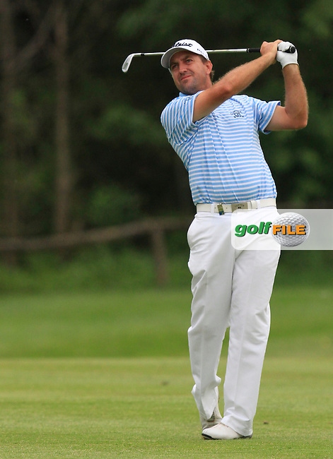 Darren Fichardt (RSA) on the 9th fairway during Round 1 of the Open de Espana  in Club de Golf el Prat, Barcelona on Thursday 14th May 2015.<br /> Picture:  Thos Caffrey / www.golffile.ie