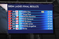 OLYMPIC GAMES: PYEONGCHANG: 18-02-2018, Gangneung Oval, Long Track, 500m Ladies, Final Results, ©photo Martin de Jong