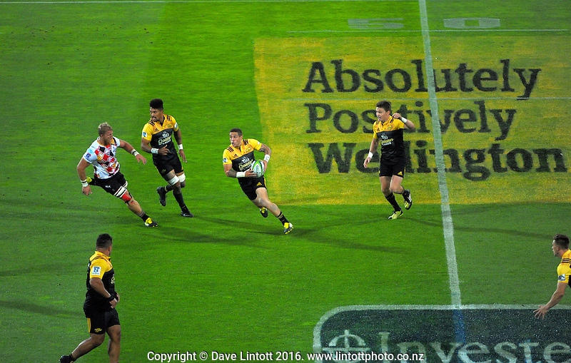 TJ Perenara in action during the Super Rugby match between the Hurricanes and Southern Kings at Westpac Stadium, Wellington, New Zealand on Friday, 25 March 2016. Photo: Dave Lintott / lintottphoto.co.nz
