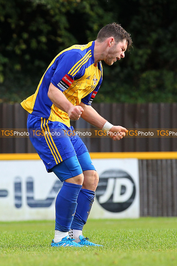 Frustration for Tom Richardson of Romford - Romford vs Needham Market - Ryman League Division One North Football at Ship Lane, Thurrock FC - 04/10/14 - MANDATORY CREDIT: Gavin Ellis/TGSPHOTO - Self billing applies where appropriate - contact@tgsphoto.co.uk - NO UNPAID USE