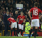 Bastian Schweinsteiger of Manchester United makes an appearance as a substitute during the English League Cup Quarter Final match at Old Trafford  Stadium, Manchester. Picture date: November 30th, 2016. Pic Simon Bellis/Sportimage