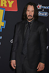"Keanu Reeves 036 arrives at the premiere of Disney and Pixar's ""Toy Story 4"" on June 11, 2019 in Los Angeles, California."