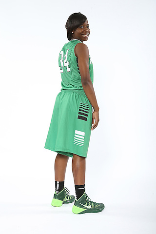 DENTON, TX - OCTOBER 2: North Texas women's basketball marketing photo of Kiara Davis #34 at he North Texas Coliseum in Denton on October 2, 2013 in Denton, Texas. Photo by Rick Yeatts