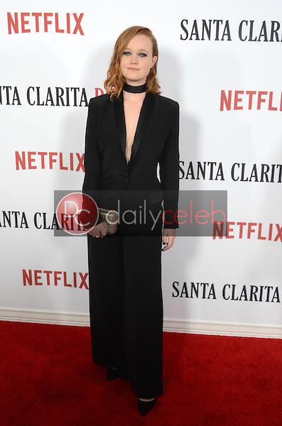 "Liv Hewson<br /> at the ""Santa Clarita Diet"" Premiere, Arclight Cinerama Dome, Hollywood, CA 02-01-17<br /> David Edwards/DailyCeleb.com 818-249-4998"