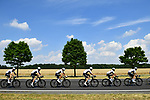 The peloton with Team Sky in action during Stage 8 of the 2018 Tour de France running 181km from Dreux to Amiens Metropole, France. 14th July 2018. <br /> Picture: ASO/Alex Broadway | Cyclefile<br /> All photos usage must carry mandatory copyright credit (&copy; Cyclefile | ASO/Alex Broadway)
