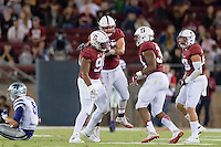 Stanford, CA - September 2, 2016: Solomon Thomas during the Stanford vs Kansas State football game at Stanford Stadium. The Cardinal defeated the Wildcats 26-13.