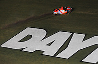 Jul. 5, 2008; Daytona Beach, FL, USA; NASCAR Sprint Cup Series driver Jeff Burton drives to his pit stall after crashing during the Coke Zero 400 at Daytona International Speedway. Mandatory Credit: Mark J. Rebilas-