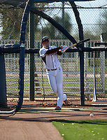 Jung-Ho Kang works out with his former team the Nexen Heroes of the Korean Baseball Organization at the Texas Rangers complex on January 25, 2015 in Surprise, Arizona. Kang will report in February to Florida to begin spring training with the Pittsburgh Pirates (Bill Mitchell)