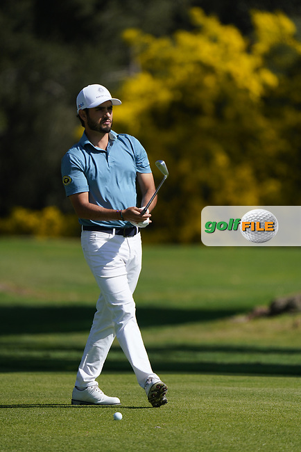 Abraham Ancer (MEX) in action during the 1st round of The Genesis Invitational, Riviera Country Club, Pacific Palisades, Los Angeles, USA. 12/02/2020<br /> Picture: Golffile | Phil Inglis<br /> <br /> <br /> All photo usage must carry mandatory copyright credit (© Golffile | Phil Inglis)