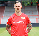 06.07.2019, Stadion an der Wuhlheide, Berlin, GER, 2.FBL, 1.FC UNION BERLIN , Mannschaftsfoto, Portraits, <br /> DFL  regulations prohibit any use of photographs as image sequences and/or quasi-video<br /> im Bild Sebastian Polter (1.FC Union Berlin #9)<br /> <br /> <br />      <br /> Foto © nordphoto / Engler