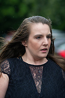 """Pictured: Carla Louise Evans leaving Newport Crown Court, Newport, South Wales, UK. Friday 16 August 2019<br /> Re: Carla Louise EvansRe: A bride-to-be who pretended she was dying of cancer to get her hands on £15,000 from a charity that arranges weddings for the terminally-ill is due to be sentenced at Newport Crown Court.Carla Louise Evans, 29, claimed she didn't have long to live after being diagnosed with bladder cancer and liver failure.A court heard the mother-of-two forged the signature of an NHS consultant urologist to swindle the Wish For A Wedding charity.Evans was planning a dream wedding and only had to contribute £500 towards her big day.But the charity became suspicious and police were called in.Prosecutor Andrew Gwynne said: """"Evans applied to the charity claiming she had cancer and liver failure."""