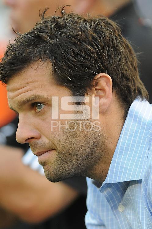 DC United Head Coach Ben Olsen.  FC Dallas defeated DC United 3-1 at RFK Stadium, Saturday August 14, 2010.
